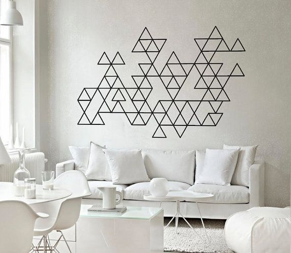 masking-washi-tape-wall-decor-goemetrical-diy-triangle