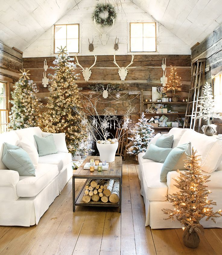 10 lovely christmas living rooms becoration