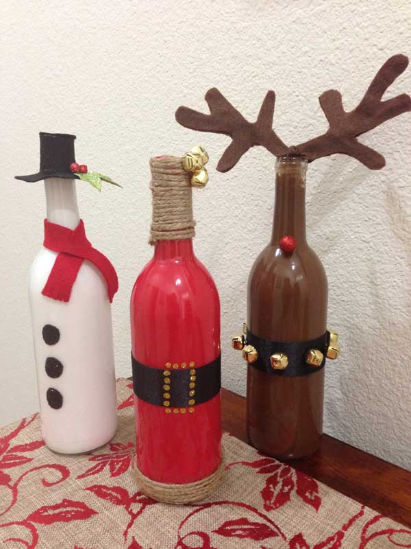 Ideas For Recycling Crystal Bottles This Christmas Becoration