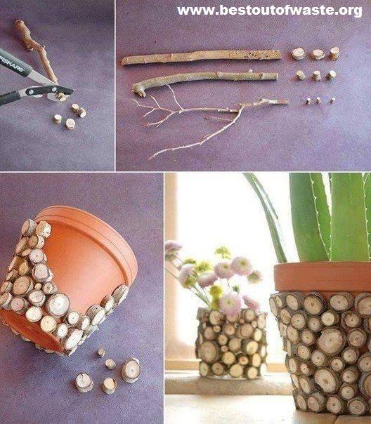 DIY branch pot