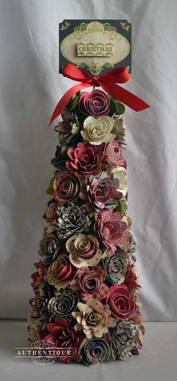 Цветы из бумаги елка