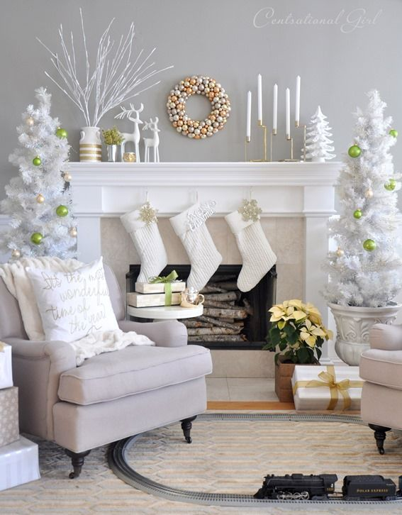 Christmas Living Room Source Pinterest