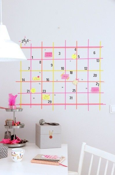 Decorating walls with washi tape becoration - Decorating walls with pictures ...