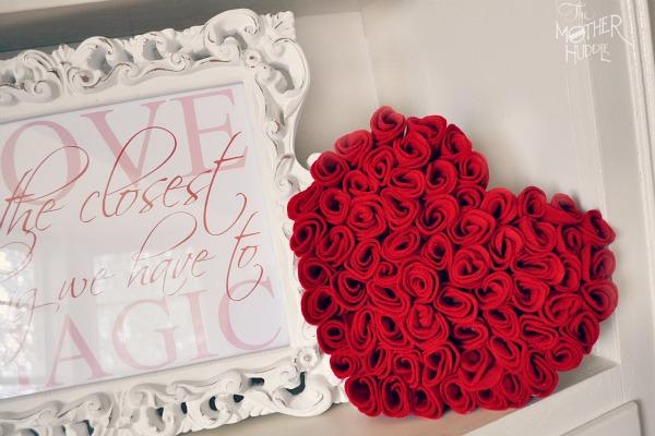 DIY felt roses 1