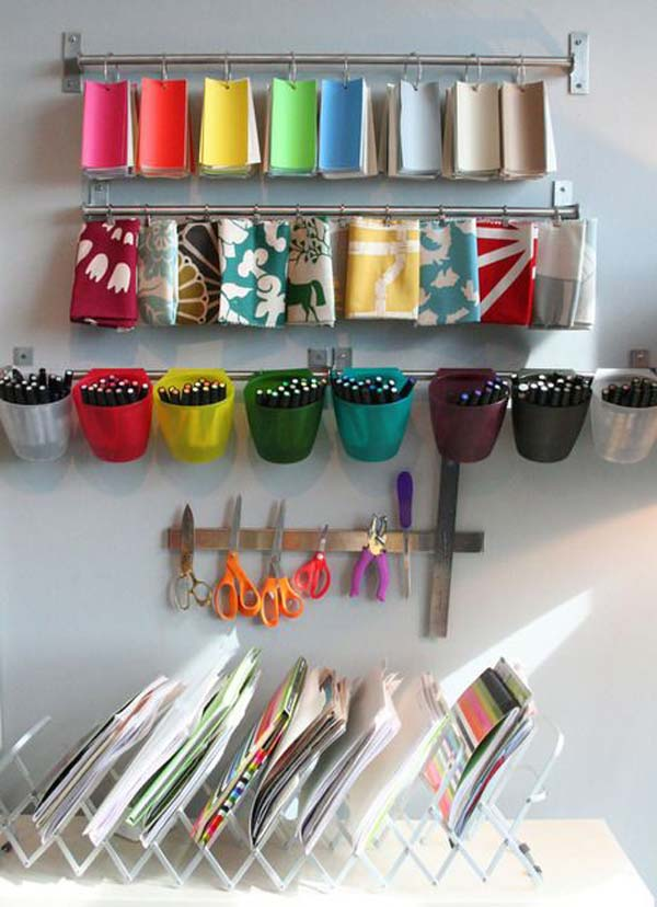 20 DIY tricks for organizing your office - becoration