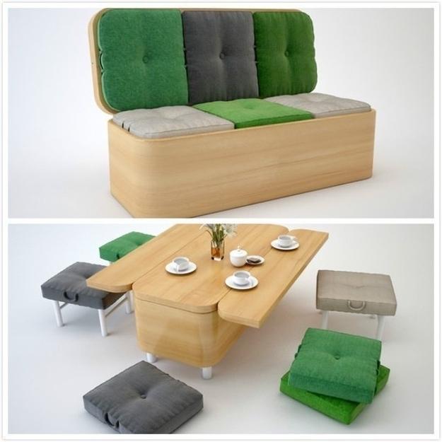 Foldable living room
