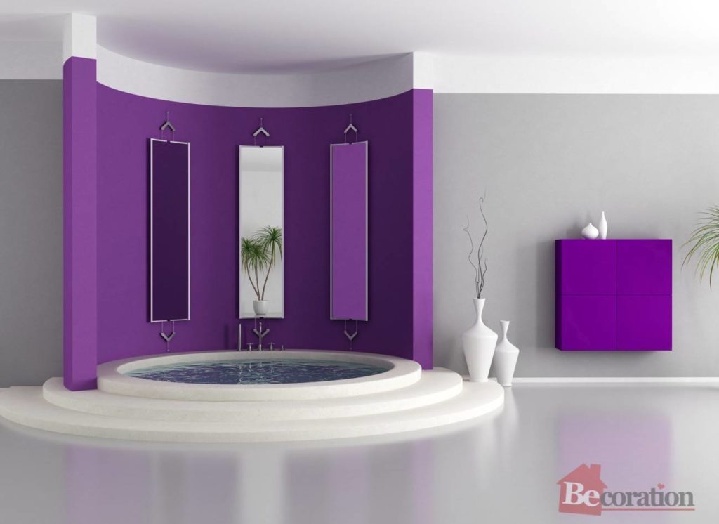 Purple luxury bathroom