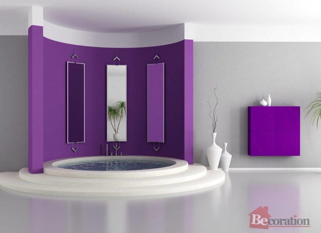 Purple luxury bathroom