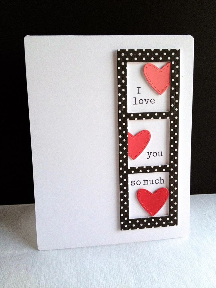 Lovely cards for St Valentine s Day becoration – Pinterest Valentines Card