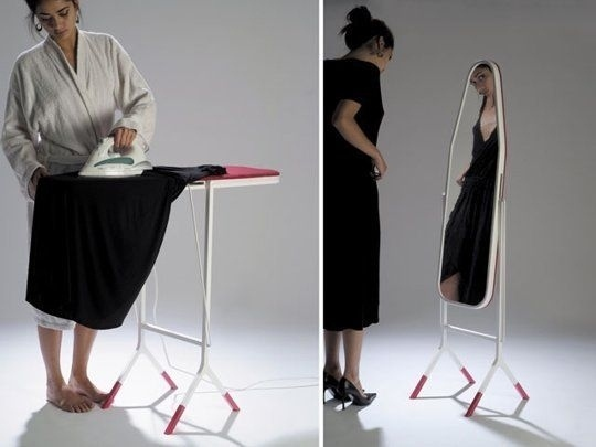 ironing board and mirror