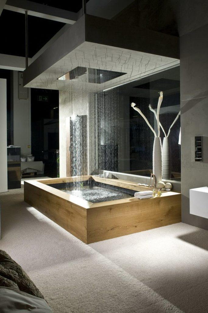 raining bathroom