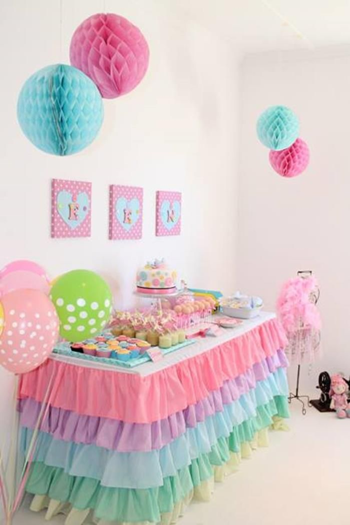 Little Girl Birthday Party Decor