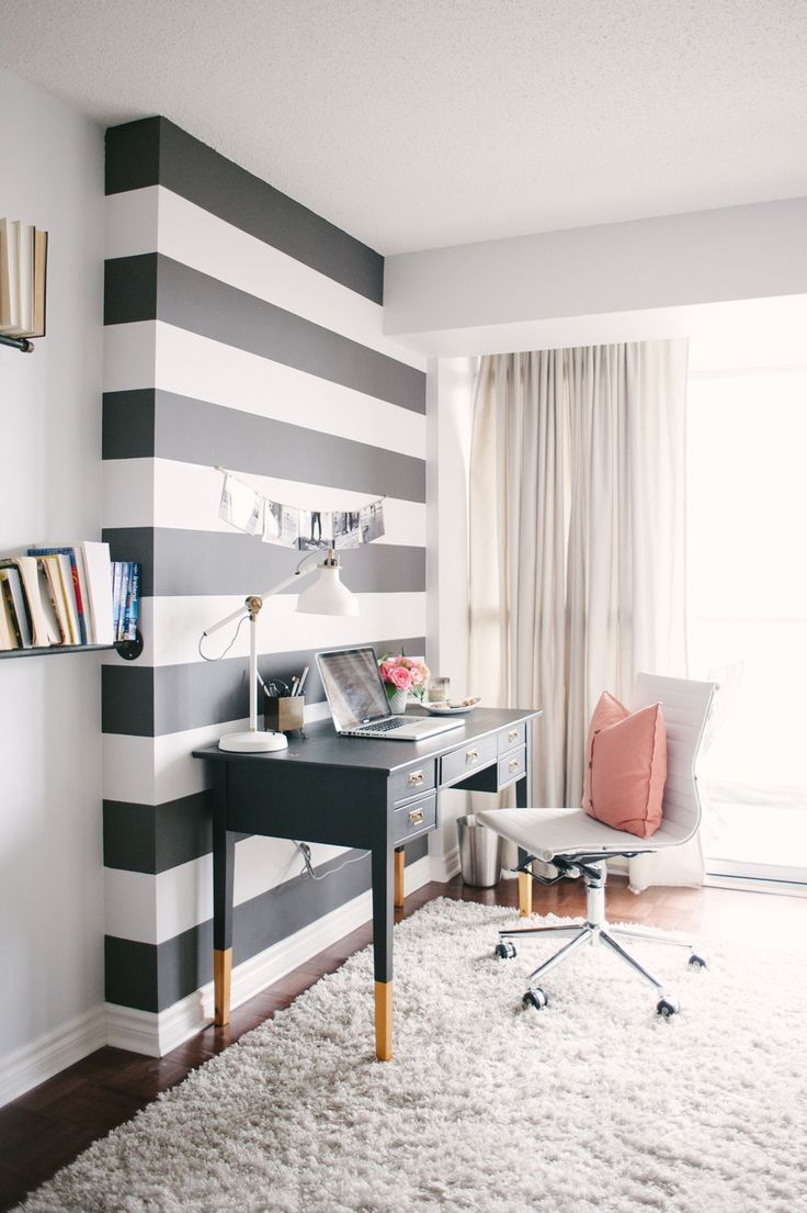 Black And White Stripes Decor Becoration