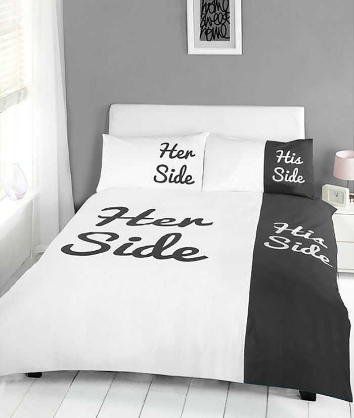 two sides in a bed