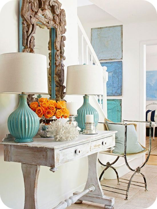 Orange And Aqua: Turquoise And Orange Decor