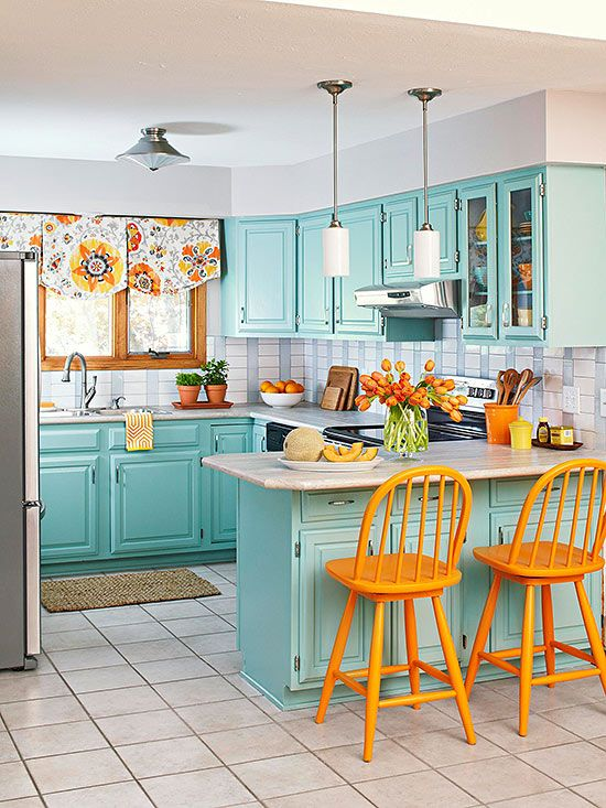 Turqoise Kitchen: Turquoise And Orange Decor