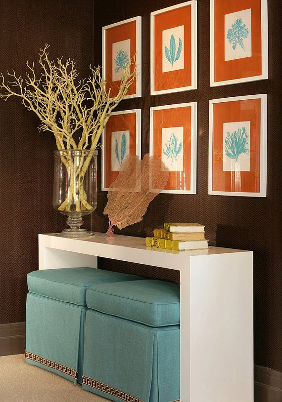 Blue And Orange Living Room Ideas: Turquoise And Orange Decor