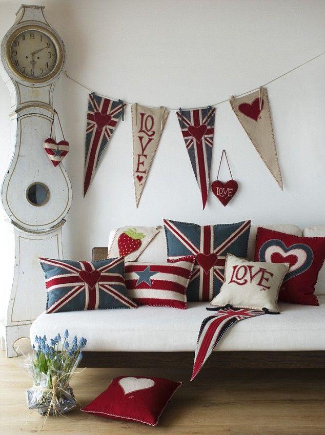 British decor becoration for Decoration murale union jack
