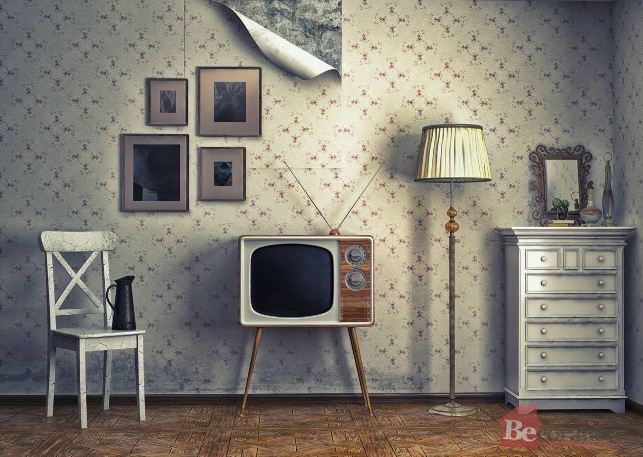Some vintage decorating ideas for Living room decor ideas with wallpaper
