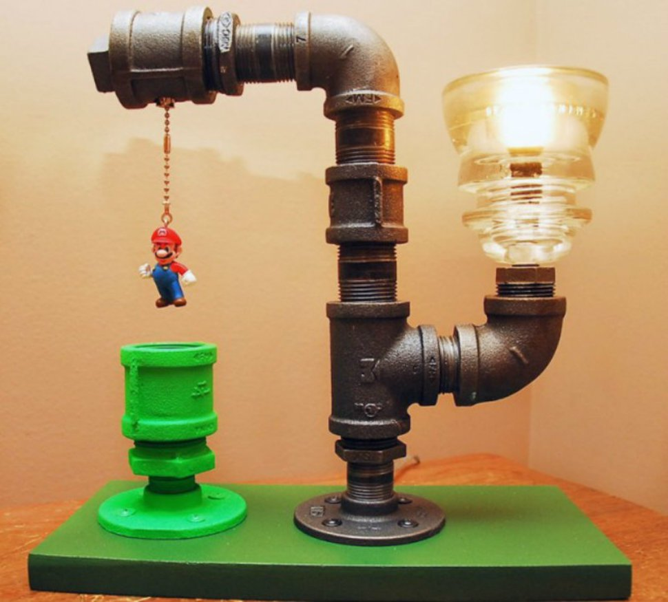 22 ideas for making diy creative lamps for Lamp making ideas