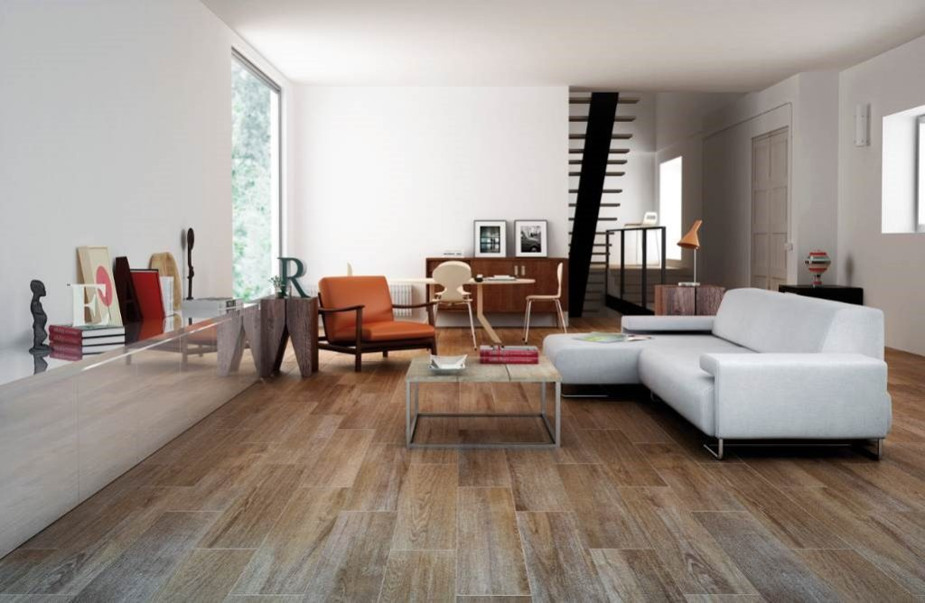Neo rustic living room