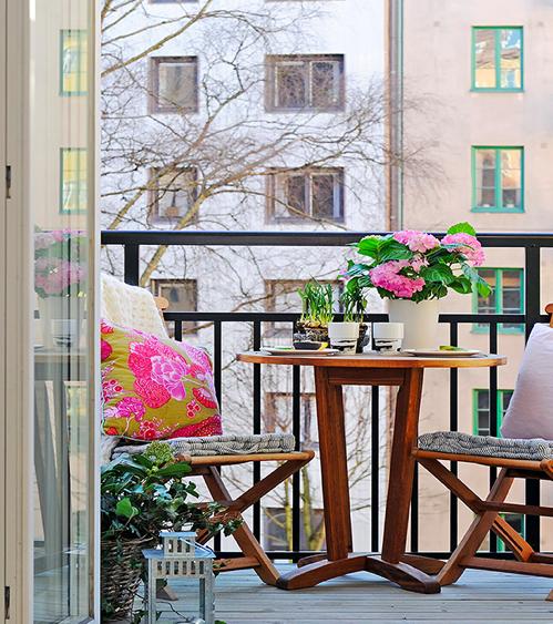 Cozy decorations for small terraces - Decoracion de patios y terrazas ...
