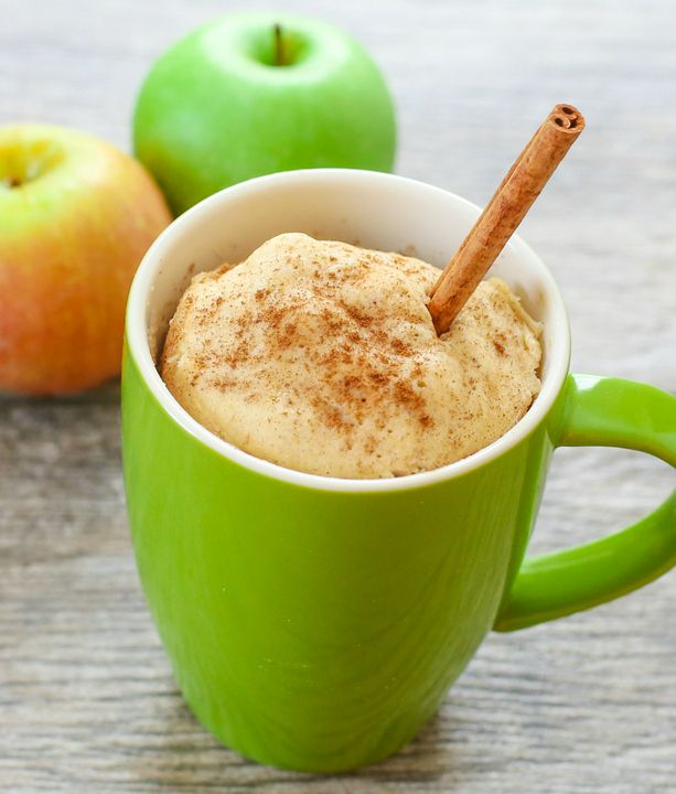 spicy apple mug cake
