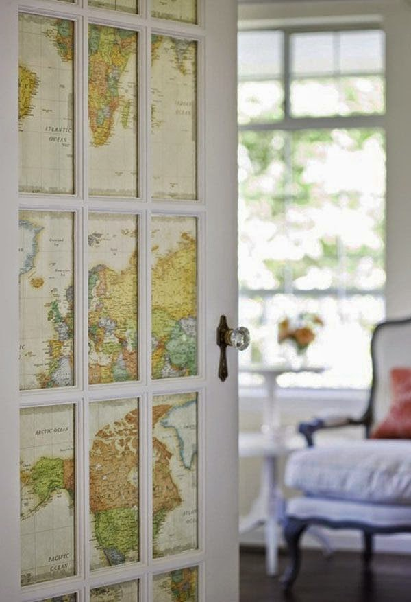Great Ideas For Decorating With Maps Becoration