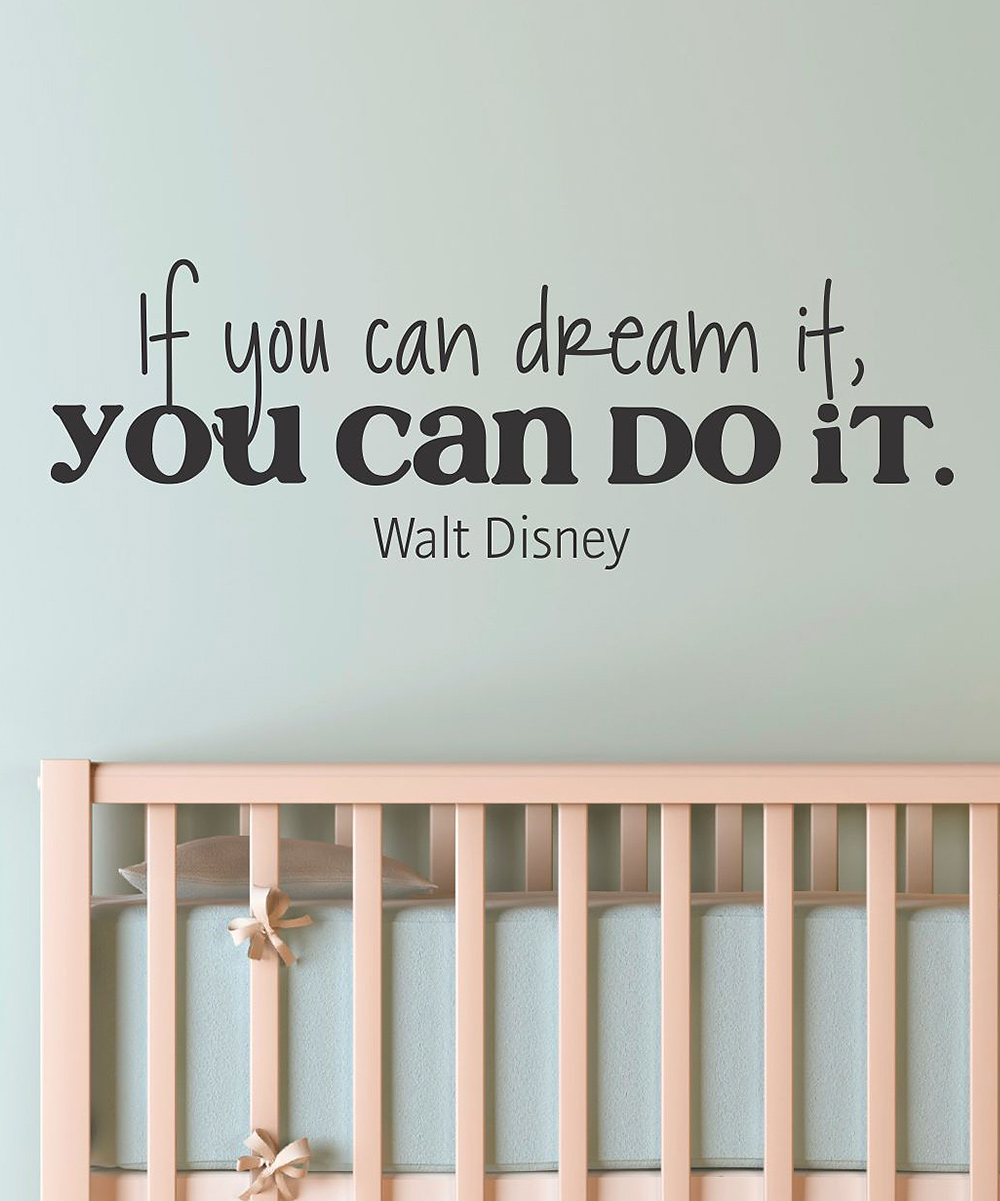 Magical disney wall decals for decorating bedrooms if you can dream it you can do it by walt disney amipublicfo Image collections