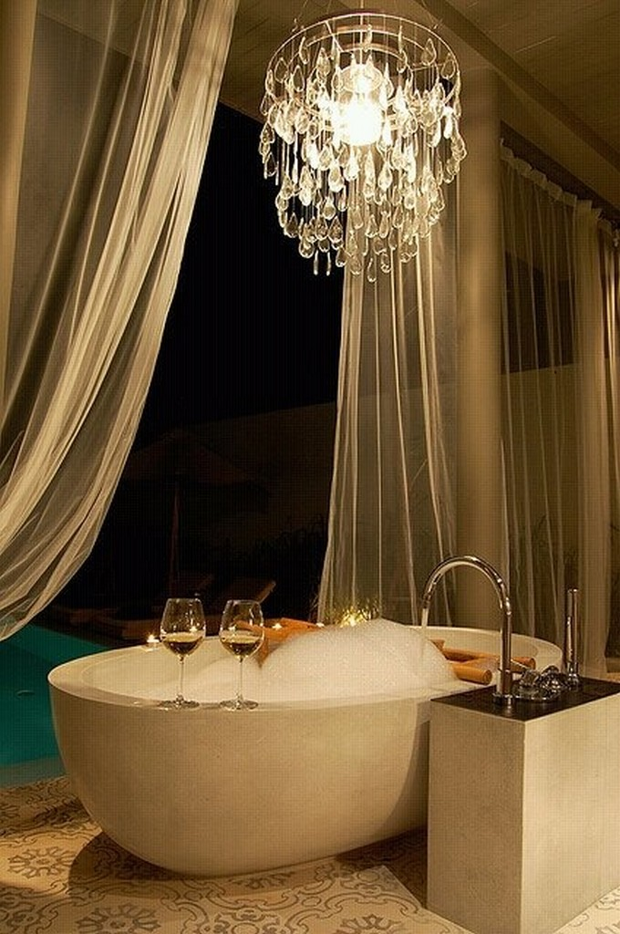 Ideas for preparing a romantic bath decoration - becoration