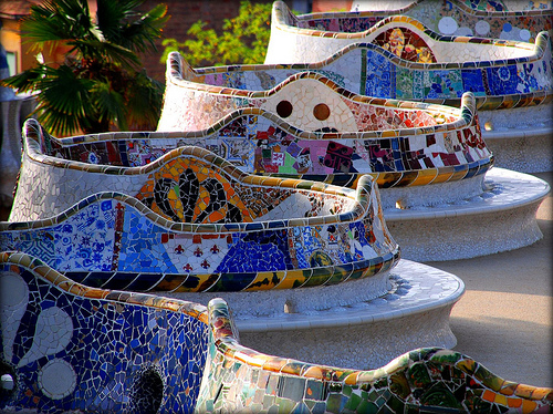 Gaudi_elements_Benches_of_the_Parc_Guell